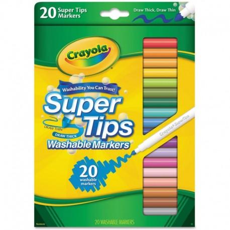 Crayola 20 Colors Super Tips Washable Marker