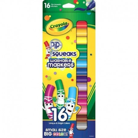 Crayola Squeaks Washable Markers 16 Colors