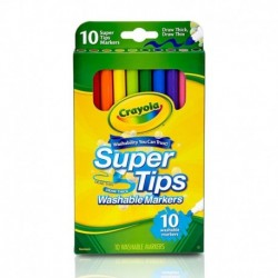 Crayola 10 Colors Super Tips Washable Marker
