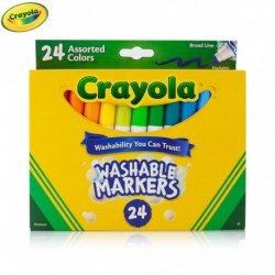 Crayola 24 Color Broad Line Washable Markers