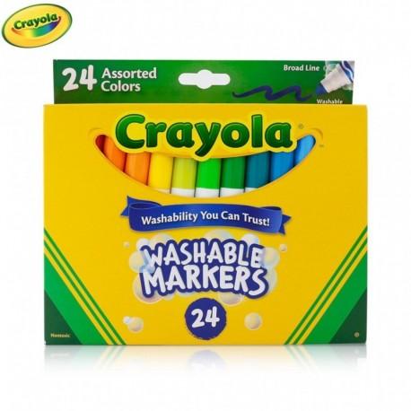 Crayola 24 Color Broad Line Washable Markers