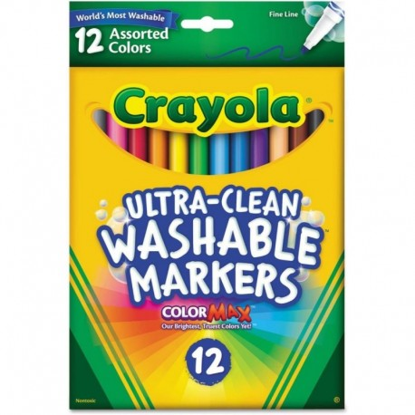 Crayola Ultra-Clean 12 Color Fine Point Washable Markers