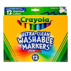Crayola 12 Color Broad Line Washable Markers