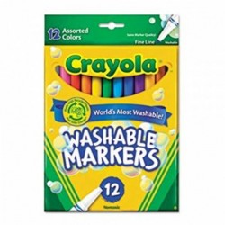 Crayola 12 Color Fine Line Washable Markers