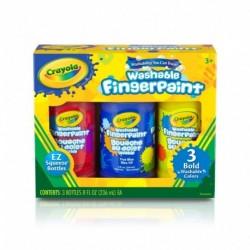 Crayola 3 Color Washable Finger Paint (8oz)