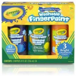 Crayola 3 color Washable Fingerpaint Secondary Colors (8oz)