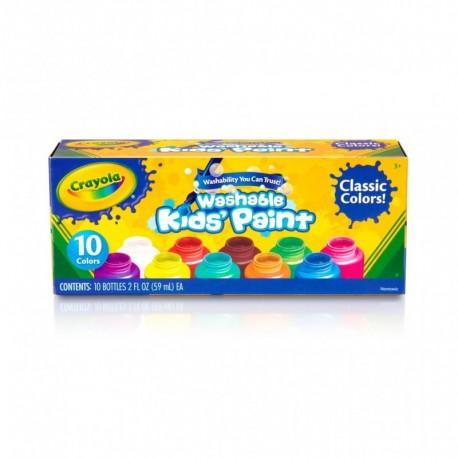 Crayola 10 Color Washable Kids Paint (2oz)