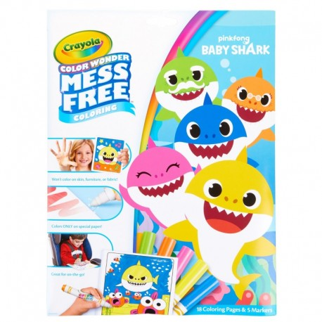 Crayola Color Wonder Mess Free Baby Shark Coloring Pages & Markers