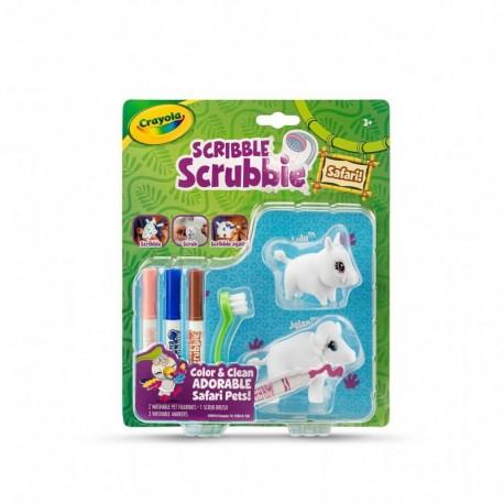 Crayola Scribble Scrubbie Safari Animals, Warthog & Buffalo, 2 Count