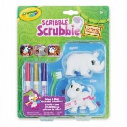 Crayola Scribble Scrubbie Safari Animals, Rhino & Hippo, 2 Count