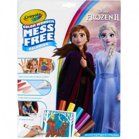 Crayola Color Wonder Mess Free Frozen 2 Coloring Pages & Markers
