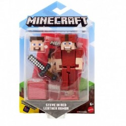Minecraft Comic Maker Steve in Red Leather Armor Action Figure