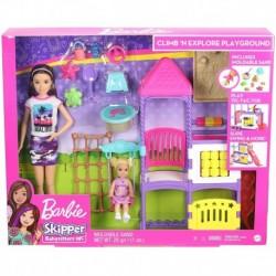 Barbie Skipper Babysitters Inc. Climb 'n Explore Playground Dolls & Playset