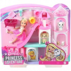 Barbie Princess Adventure Chelsea Doll and Pet Castle Playset