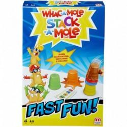 Mattel Games Fast Fun Whac-A-Mole Stack-A-Mole Game