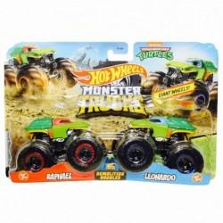 Hot Wheels Monster Trucks Demolition Doubles Raphael & Leonardo Die-Cast Car 2-Pack