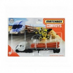 Matchbox Convoys Tesla Semi with Pipe Trailer & Load Lifter