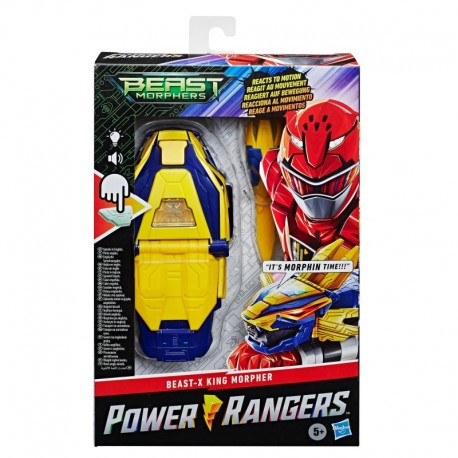 Power Rangers Beast Morphers Beast-X King Morpher Electronic Roleplay Toy Motion Reactive with Lights and 20+ Sounds