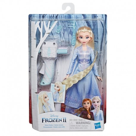 Disney Frozen Sister Styles Elsa Fashion Doll With Extra-Long Blonde Hair, Braiding Tool and Hair Clips