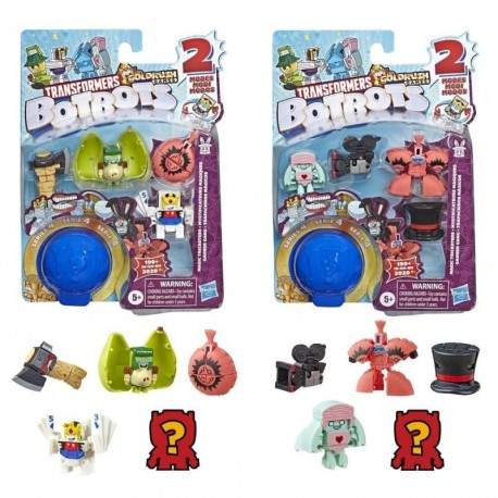 Transformers Toys BotBots Series 4 Magic Tricksters 5-Pack - Mystery 2-In-1 Collectible Figures