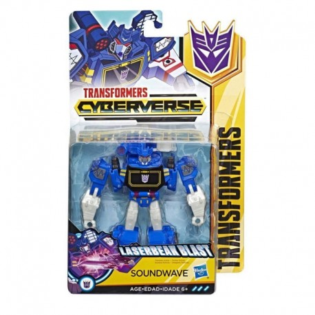 Transformers Cyberverse Action Attackers: Warrior Class Soundwave Action Figure
