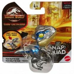 Jurassic World Snap Squad Camp Cretaceous Velociraptor Blue