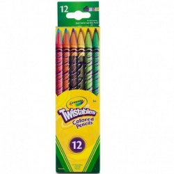 Crayola 12 Colors Twistables Colored Pencils