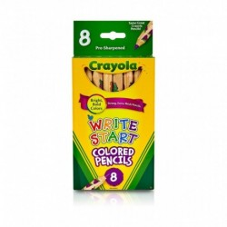 Crayola 8 Colors Write Start Colored Pencils