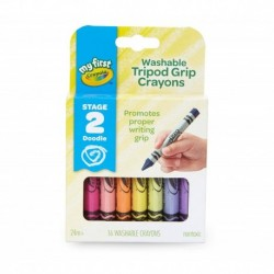Crayola 16 Colors My First Tripod Grip Washable Crayons