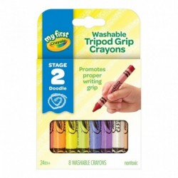 Crayola 8 Colors My First Tripod Grip Washable Crayons