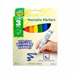 Crayola 8 Colors Ultra-Clean Washable Markers