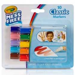 Crayola 10 Colors Wonder Mess Free Coloring Classic Markers