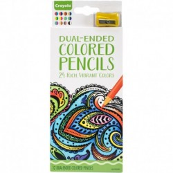 Crayola 12 Dual Ended Colored Pencils