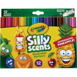 Crayola 12 Colors Silly Scents Slim Scented Washable Markers