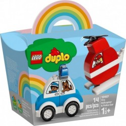 LEGO DUPLO Creative Play 10957 Fire Helicopter & Police Car