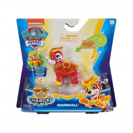 Paw Patrol Mighty Pups Charged Up Hero Pup Super Charged Marshall