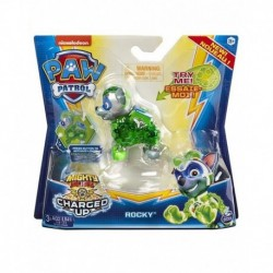 Paw Patrol Mighty Pups Charged Up Hero Pup Super Charged Rocky