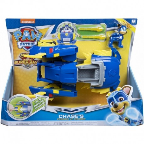 Paw Patrol Mighty Pups Super Paws Power Changing Vehicle Chase