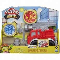 Play-Doh Wheels Fire Engine Playset with 2 Non-Toxic Modeling Compound Cans Including Water and Fire Colors