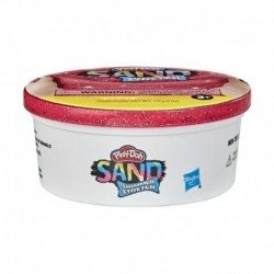 Play-Doh Sand Shimmer Stretch Single Can of Sparkly Bright Red Compound