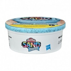 Play-Doh Sand Shimmer Stretch Single Can of Sparkly Cyan Blue Compound