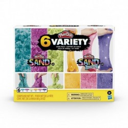 Play-Doh Sand Variety 6-Pack of Play-Doh Sand and Shimmer Stretch Compounds