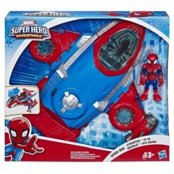 Marvel Super Hero Playskool Adventures Spider-Man Jetquarters