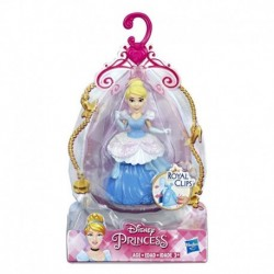 Disney Princess Cinderella Collectible Doll With Glittery Blue and White One-Clip Dress, Royal Clips Fashion Toy