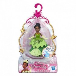 Disney Princess Tiana Collectible Doll With Glittery Green One-Clip Dress, Royal Clips Fashion Toy