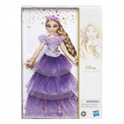 Disney Princess Style Series Rapunzel Fashion Doll, Contemporary Style Dress with Headband, Purse, and Shoes