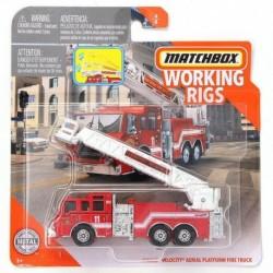 Matchbox Cars Working Rigs Pierce Velocity Aerial Platform Fire Truck