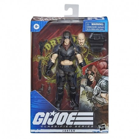 G.I. Joe Classified Series Series Zartan Action Figure 23 Collectible Toy, Multiple Accessories, Custom Package Art