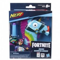Nerf MicroShots Fortnite Rainbow Smash - Mini Dart Blaster and 2 Official Nerf Elite Darts