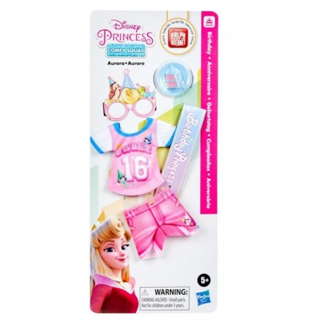 Disney Princess Comfy Squad Fashion Pack for Aurora Doll, Clothes for Disney Fashion Doll Toy (Doll sold separately)
